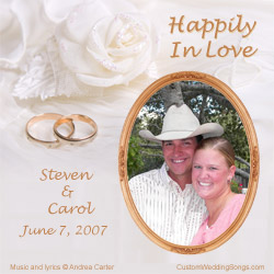 CD cover from personalized first dance wedding song