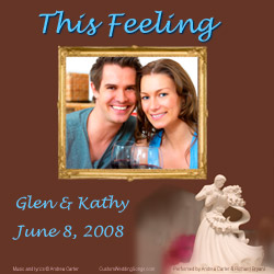CD cover for original first dance wedding song