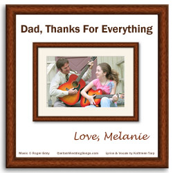 CD cover for original wedding father/daughter dance song
