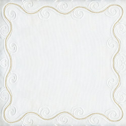 Blank CD jacket cover with White and Gold Scroll